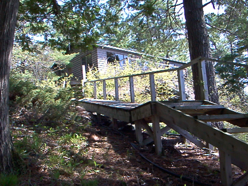 Stairs to the cottage